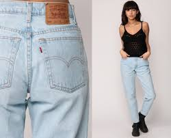 Light Blue High Waisted Jeans Levis Mom Jeans High Waist Jeans 90s Jeans Light Blue Jeans
