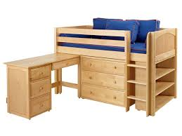 storage loft bed with desk twin size low loft beds wooden design wooden furniture pinterest