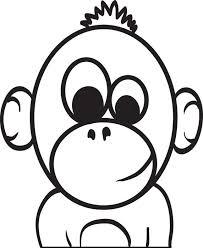 baby cartoon monkey coloring cartoon monkey baby cartoon
