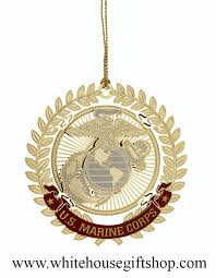 united states marine corps usmc holidays ornament