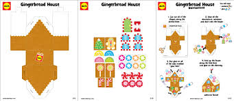 gingerbread house craft project with free printable alexbrands com