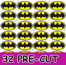batman cake toppers 32 pre cut batman cake toppers rice wafer paper birthday cupcake