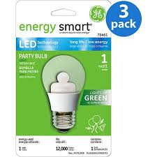 Ge Led Light Bulbs Ge Led Green Party Bulb 3 Bulbs Walmart Com