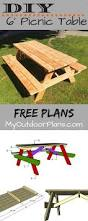 Free Wooden Picnic Table Plans by Best 25 Diy Picnic Table Ideas On Pinterest Outdoor Tables