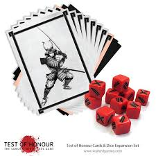 test of honour dice and cards expansion set warlord