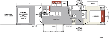 Toy Hauler Floor Plans Xlr Nitro Travel Trailer U0026 Fifth Wheel Toy Haulers Floorplans