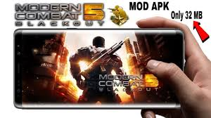 apk only 32 mb only modern combat 5 mod apk update version for free