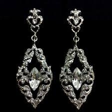 victorian art nouveau wedding swarovski bridal earrings