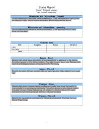 project assessment template variance report checklist