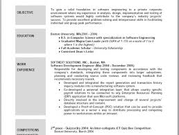 Sample Objectives Resume by Sample Of Resume Objective Resume Cv Cover Letter