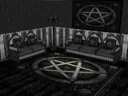 gothic room mod the sims the dark living room