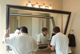 custom bathroom mirrors mirrorcle frames services mirrorcle frames we frame your mirrors