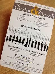 cool wedding programs 51 best wedding programs images on wedding