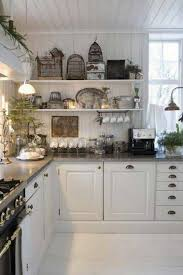 Cottage Chic Kitchen - shabby chic kitchen with open shelves beautiful shabby chic