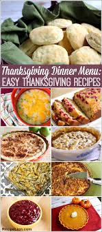 thanksgiving dinner menu 22 easy thanksgiving recipes