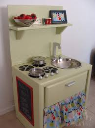play kitchen from old furniture fireflies and jellybeans featured friday sharla from my little gems