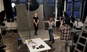 behind the scenes of a fashion shoot