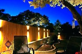 outdoor fence lighting ideas backyard fence lights vista outdoor lighting with wood fence outside