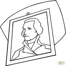 george washington portrait coloring page free printable coloring