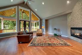 Cathedral Ceilings In Living Room by Luxury Craftsman Style Sonomish Home In Machias Ridge