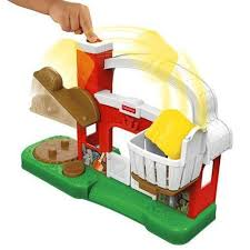 Fisher Price Barn Bounce House Fisher Price Little People Farm Hay Stackin Stable At Baby