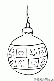 coloring page ball on the christmas tree