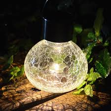 amazon com sogrand 2pc pack crackle glass jar solar lights