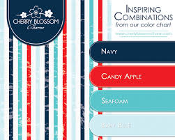 a more modern and summery combination of patriotic colors navy