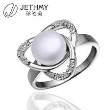 best pearl rings images R007 high quality 18k gold plated simulated pearl ring fashion jpg
