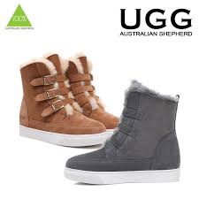 womens fashion boots australia ugg boots sheepskin buckle fashion australian