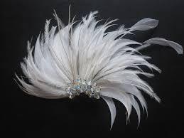 feather flower vintage inspired white feather flower fascinator fan hair flickr