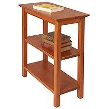 golden oak end tables amazon com manchester wood chairside bookshelf golden oak
