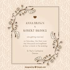 wedding card for ceremony vectors photos and psd files free