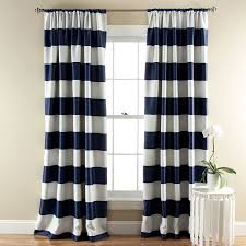 amazon com lush décor stripe room darkening window curtain panel