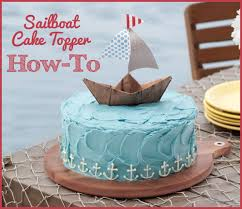 sailboat cake topper how to make a sailboat cake topper step by step