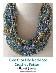 city life necklace free crochet pattern jewelry 2 pinterest