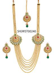 gold rani haar sets bridal necklace set rani haar at rs 700 pair pmr tower