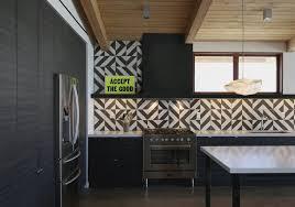 modern kitchen tile ideas granada tile s serengeti cement tile in a modern kitchen granada