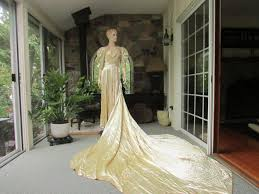 antique ivory satin silk wedding gown antique wedding dress