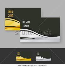 Membership Cards Design Golden Silver Membership Luxury Card Design Stock Vector 262845257
