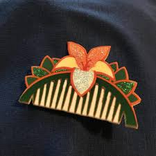 mulan hair comb mulan s flower comb bows and bounds