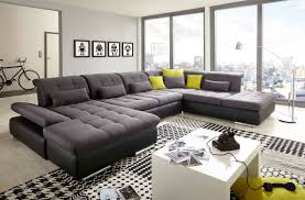 Leather Blend Sofa Alpine Sofa Sectional In Black Gray Leather Blend