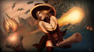 lina the witch dota 2 halloween dota 2 wallpapers