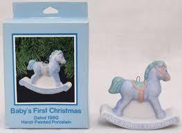 hallmark 1990 baby u0027s first christmas porcelain ornament boy baby