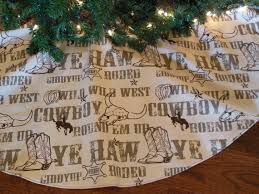 Cowboy Christmas Decorating Ideas Western Christmas Tree Skirt Country Western By Kaysgeneralstore