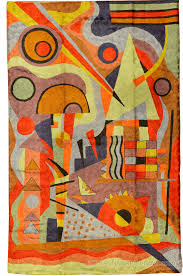 Modern Rugs On Sale Kandinsky Composition Silk Rug Wall Tapestry Embroidered