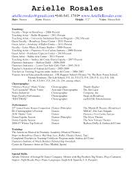 Audition Resume Sample by Special Skills For Dance Resume Free Resume Example And Writing
