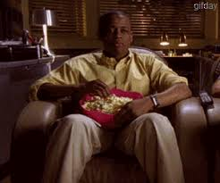 Meme Eating Popcorn - psych dule hill eating popcorn gif on imgur