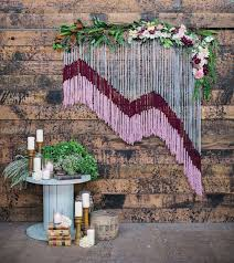 Wedding Backdrop Pinterest Yarn Wedding Backdrop With Floral Accents Deer Pearl Flowers