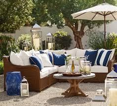 Pottery Barn Patio Table Synthetic Trim Indoor Outdoor Pillow Pottery Barn